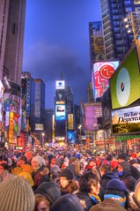 Times Square New Years Crowd