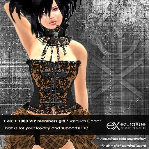 + eX + 1000 VIP members gift *Basquest Corset