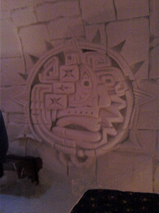 Aztec Room carving
