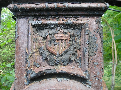 Gate post, former Park Rd. entrance to Old Soldiers' Home (Detail)