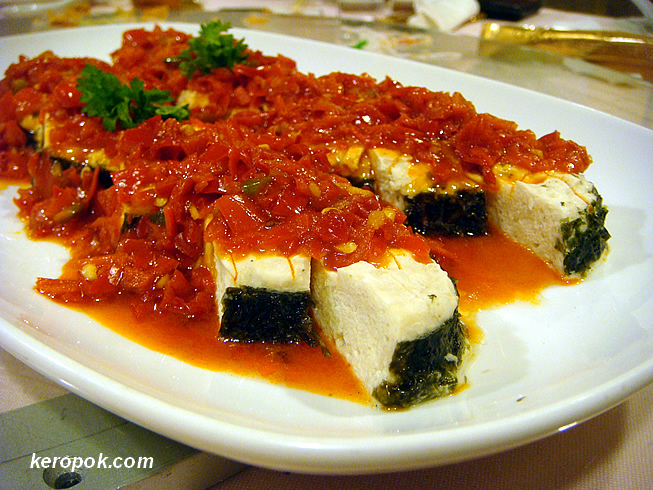 Spicy Pan-fried Vegetarian Fish