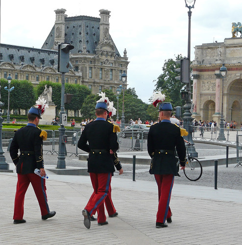 On Bastille Day, uniforms are all over
