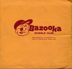 A&BC Picture card album. Bazooka Joe logo. c 1964