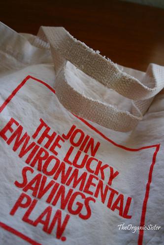 Repairing Vintage Grocery Bags