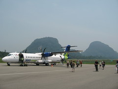 On the runway at Mulu Airport