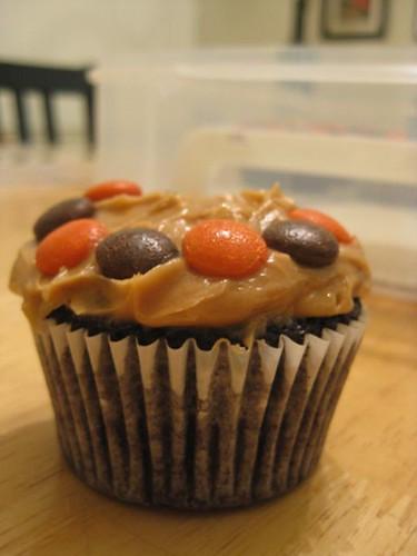Chocolate Peanut Butter Cupcake 1