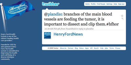 Twitter: Henry Ford Twitters Surgery