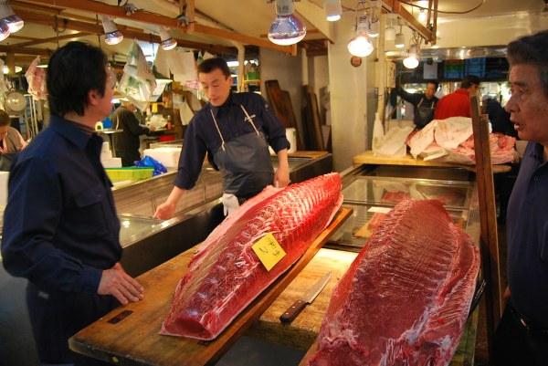 El atún rojo de Tsukiji