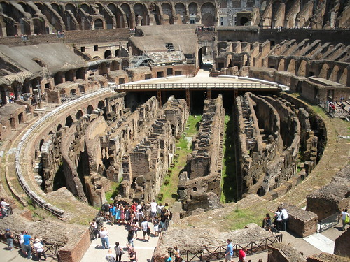 The basement, if you will, of the Colosseum.