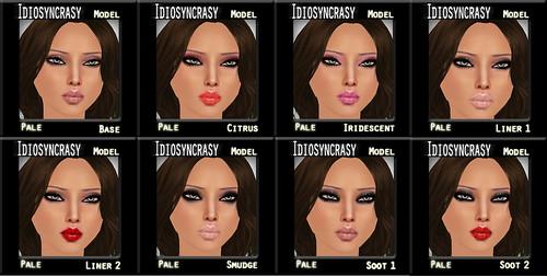 model pale makeups
