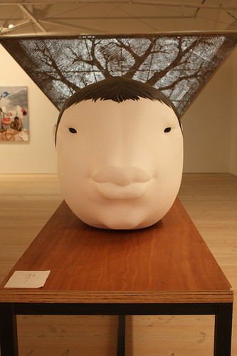 "This Korean contemporary art sculpture was shown at ""Korean Eye: Moon Generation""."