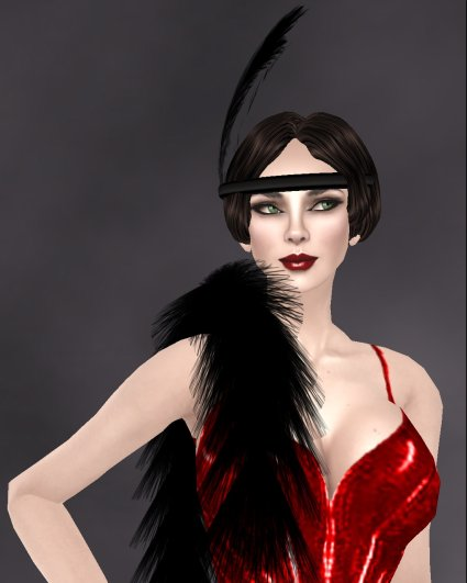 Rebel Hope Outfit #2 - Clara Bow - Flapper Close up