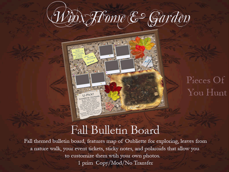 Winx-Fall Bulletin Board
