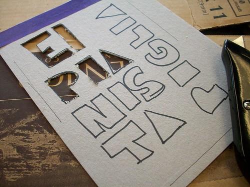 Cutting of stencil