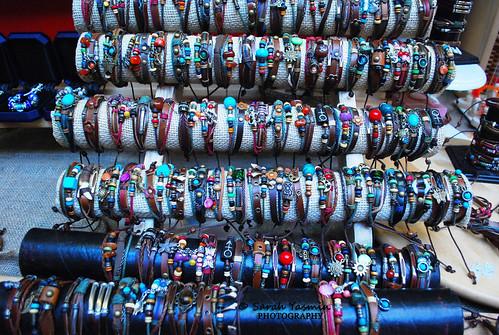 funky bracelets in camden town