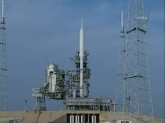 Ares 1-X on Launch Pad