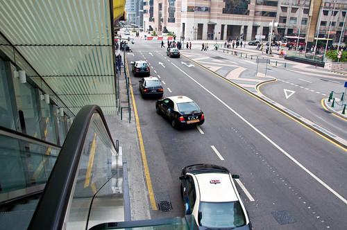Taxis along Macaus City Centre