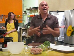 Iron Chef Michael Symon explaining video game
