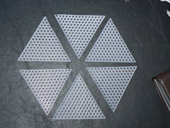 Plastic Canvas Icosahedron - Six Equilateral Triangles