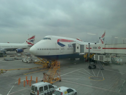 BA flight from London to Cairo, Egypt