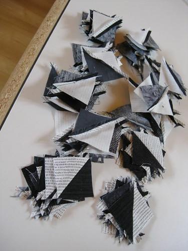 Black and white bonus half-square triangles