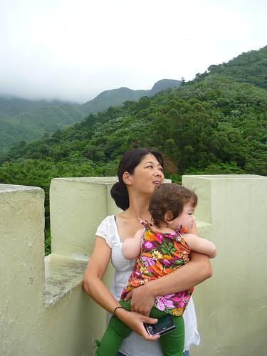 Enjoying the views from the Yokahu tower