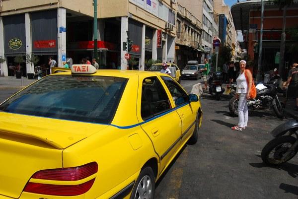 Taxi de Atenas y Vero embarazada