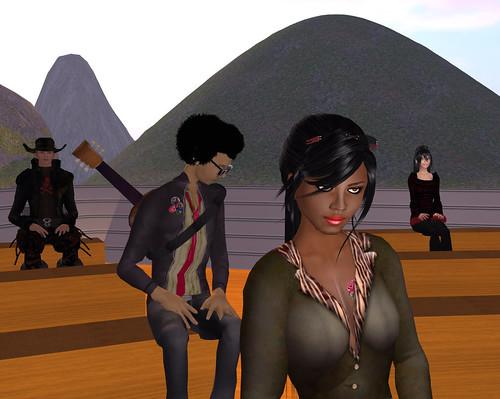 Tinsel Silvera, Pete Linden, Me, & Katt Kongo