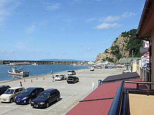海カフェからの眺め~粟島(あわしま)
