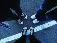 Shoes & skinny jeans