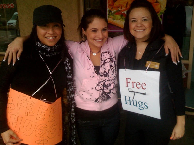 Does your business giveaway FREE HUGS?