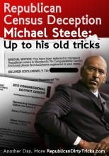 Republican Census Deception Michael Steele Up to His old tricks Image
