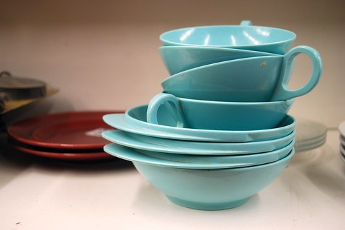Aqua Cups and Bowls