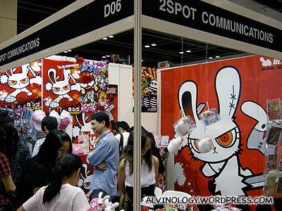 Evil rabbit character design