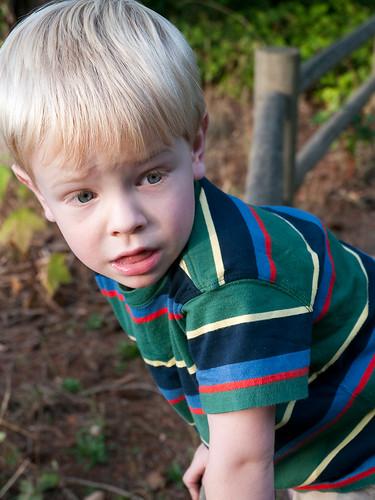 Alex Climbing a Fence