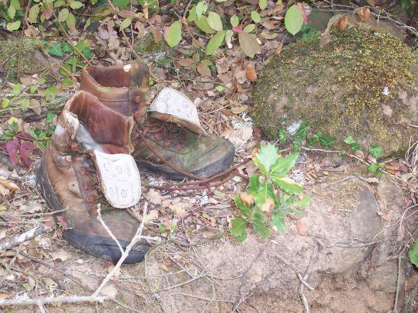 ¿Y estas botas abandonadas?