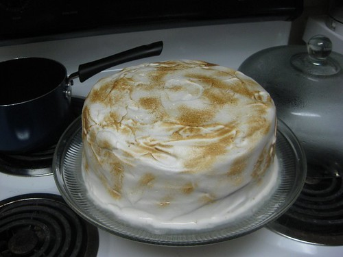 caramelize the meringue