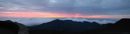Sunrise at Haleakala Volcano Crater