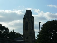 who stole the top of this church