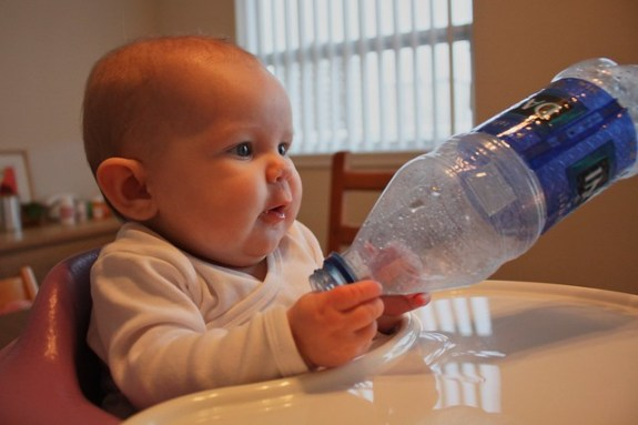Playing with a bottle
