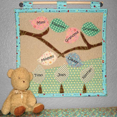 Family Tree Mini Quilt