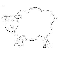 A sketch of a sheep