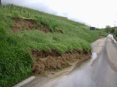 Canneto Pavese (PV): frana - landslide/mudslide