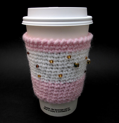 Cupcake Design Crochet Coffee Cup Cozy