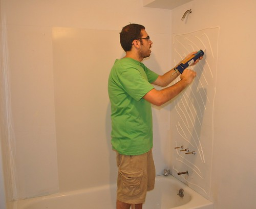 installing the shower surround