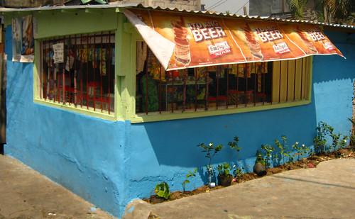 blue painted sari sari store