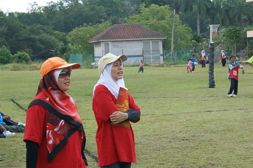 Coaches in action..