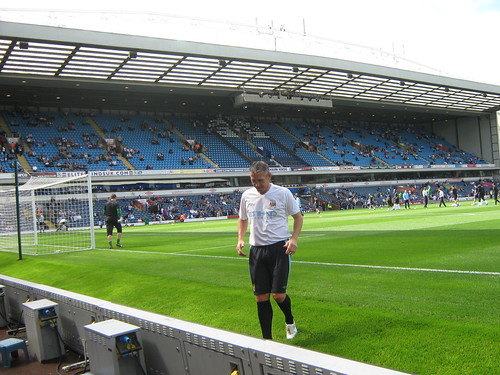 The Jack Walker Stand... along with Citys goalkeeping coach Kevin Hitchcock