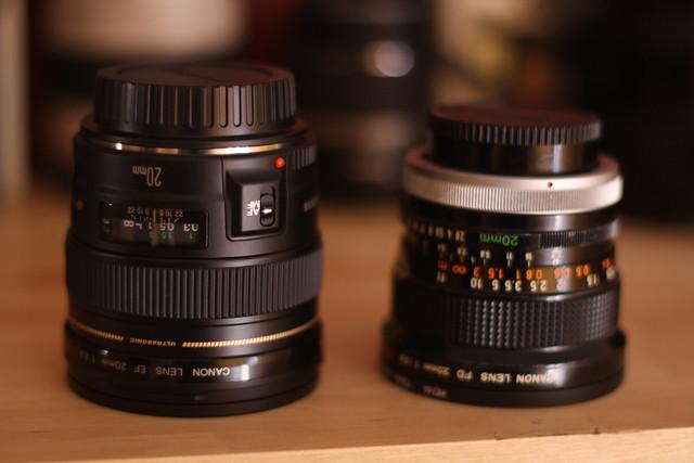 Canon EF 20mm f/2.8 VS FD 20mm f/2.8