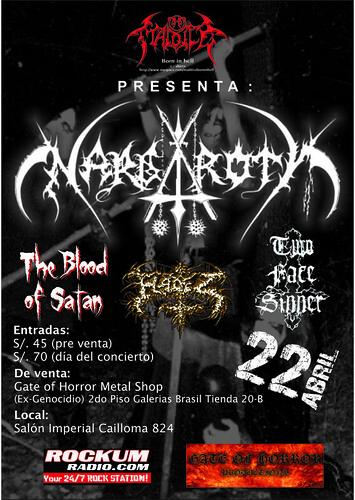 Nargaroth volante concierto en Lima Peru